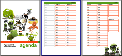 Agenda Anual 2013x3 Png | New Style for 2016-2017
