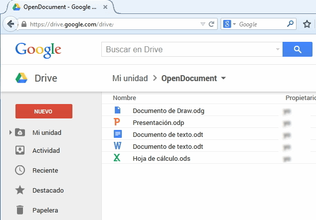 Google Drive permite visualizar y editar documentos de OpenOffice y LibreOffice