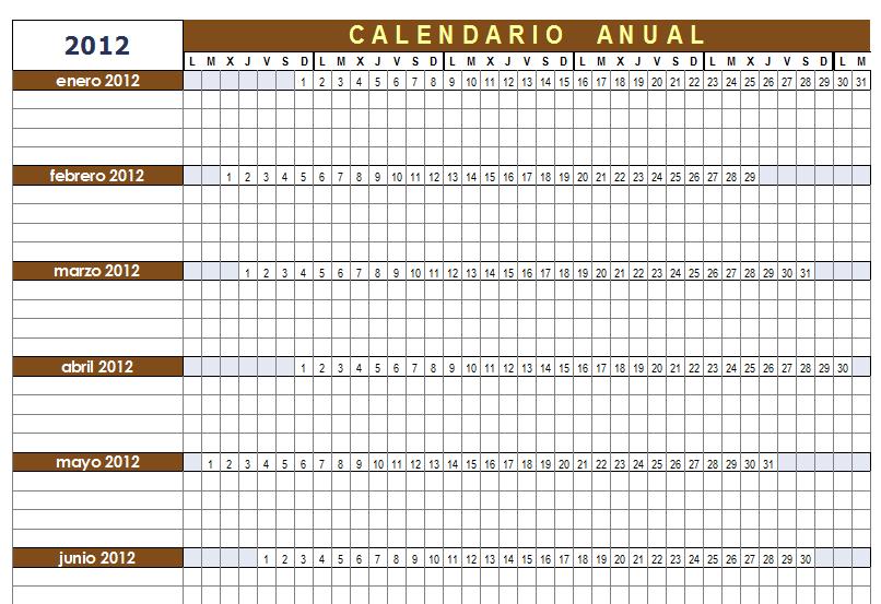 Calendario Diciembre 2020 Para Imprimir.Plantilla Calendario Anual Configurable Para Openoffice Calc