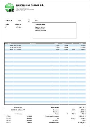 formato de factura para rellenar koni polycode co