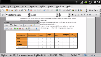 Apache openoffice para android - Open office android tablette ...